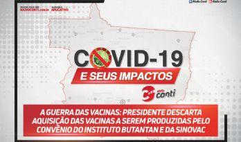 A guerra das vacinas: presidente descarta aquisição das vacinas a serem produzidas pelo convênio do Instituto Butantan e da Sinovac