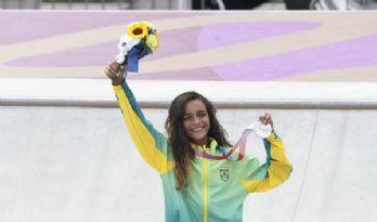 Skatista Rayssa Leal faz história e conquista prata aos 13 anos (Crédito: Vitor Jubini)